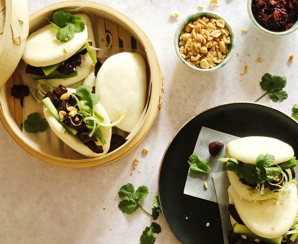 hoisin aubergine bao buns