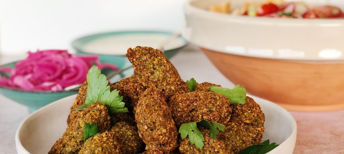 Traditional falafel with all the sides