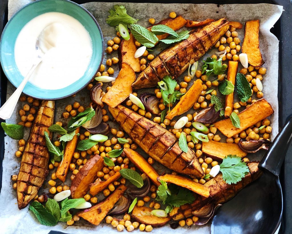 middle eastern tray bake