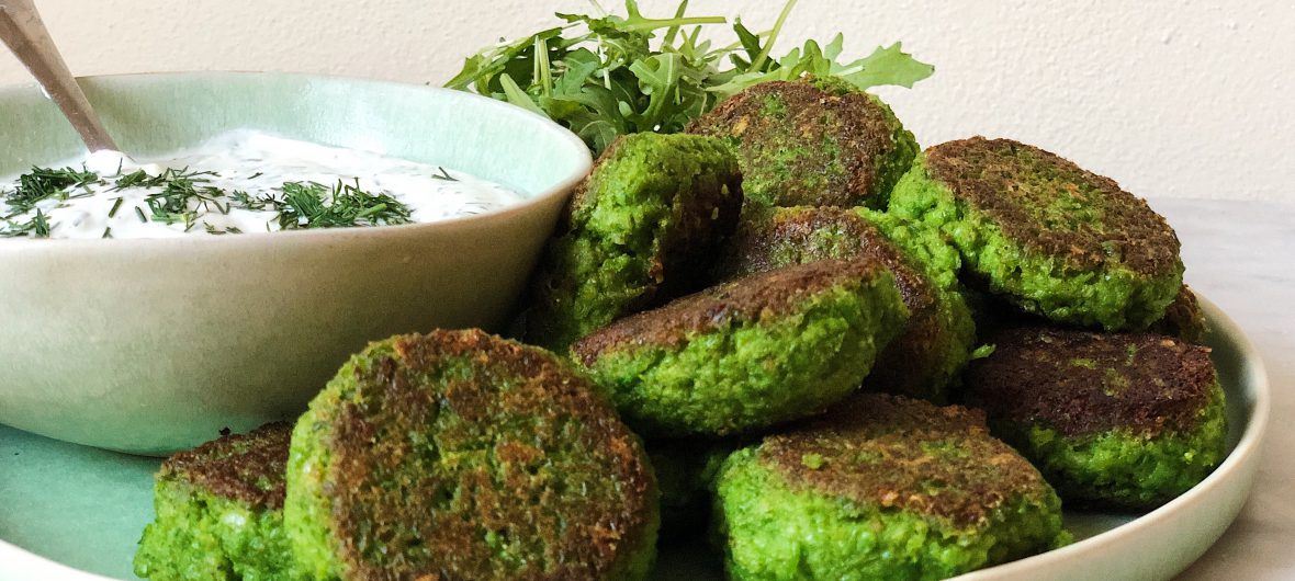 green pea burgers