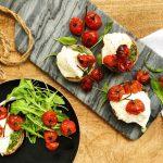 Pesto portobello mushrooms