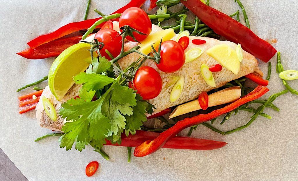 Thai red sea bream en papilotte
